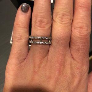 916e5ee66 ... canada pandora jewelry pandora ring double hearts of pandora eca18 b94fb